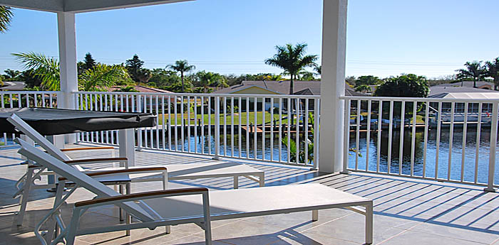 Terraces, Lanai and Pool Area in Cape Coral