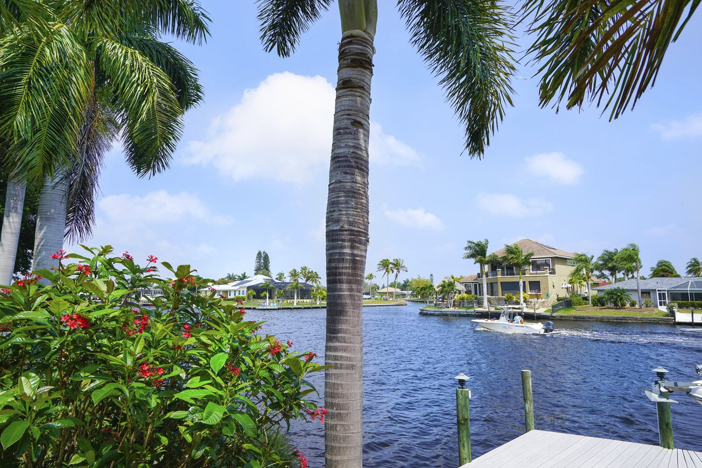 Waterview from backyard in Florida