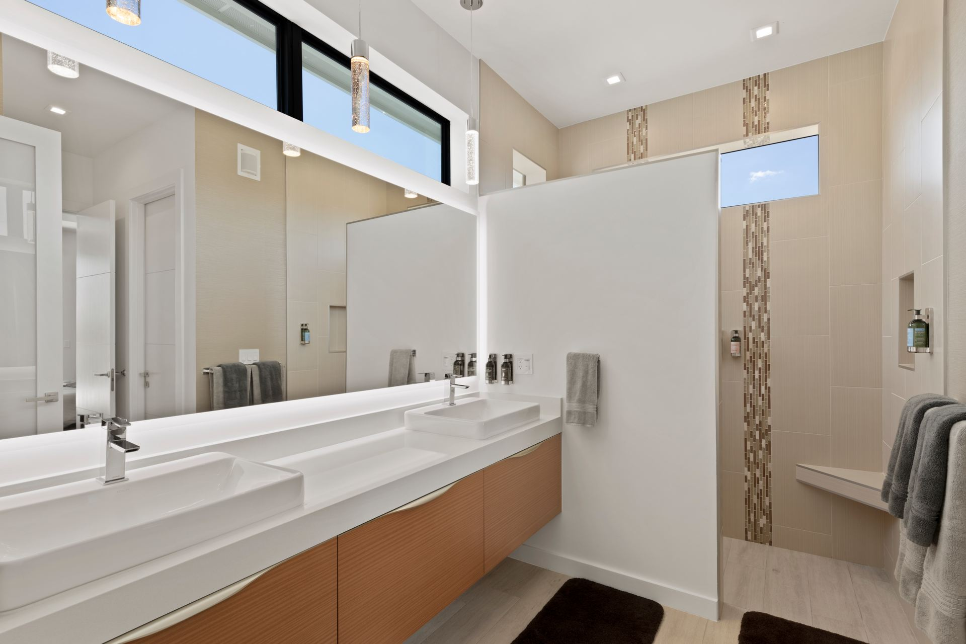 Bathrooms in the rental home