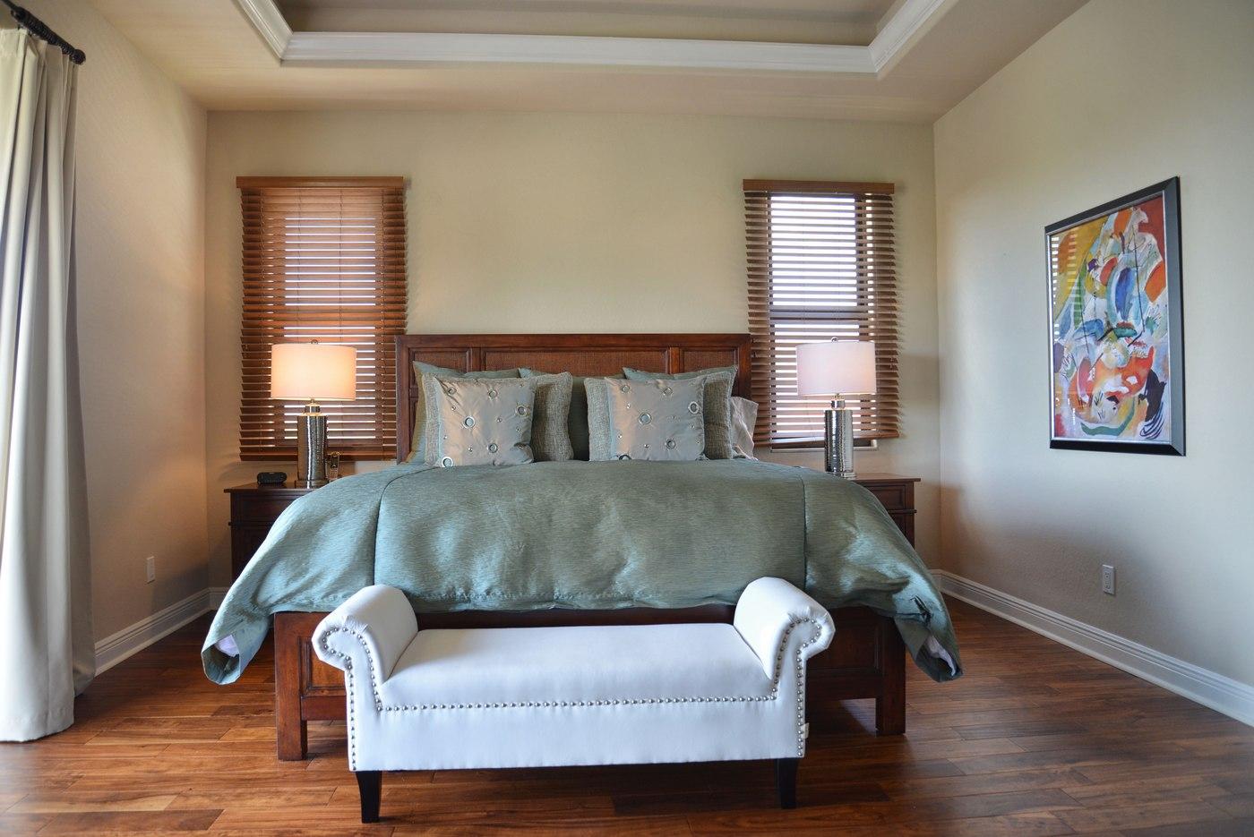 Bedroom in the rental home