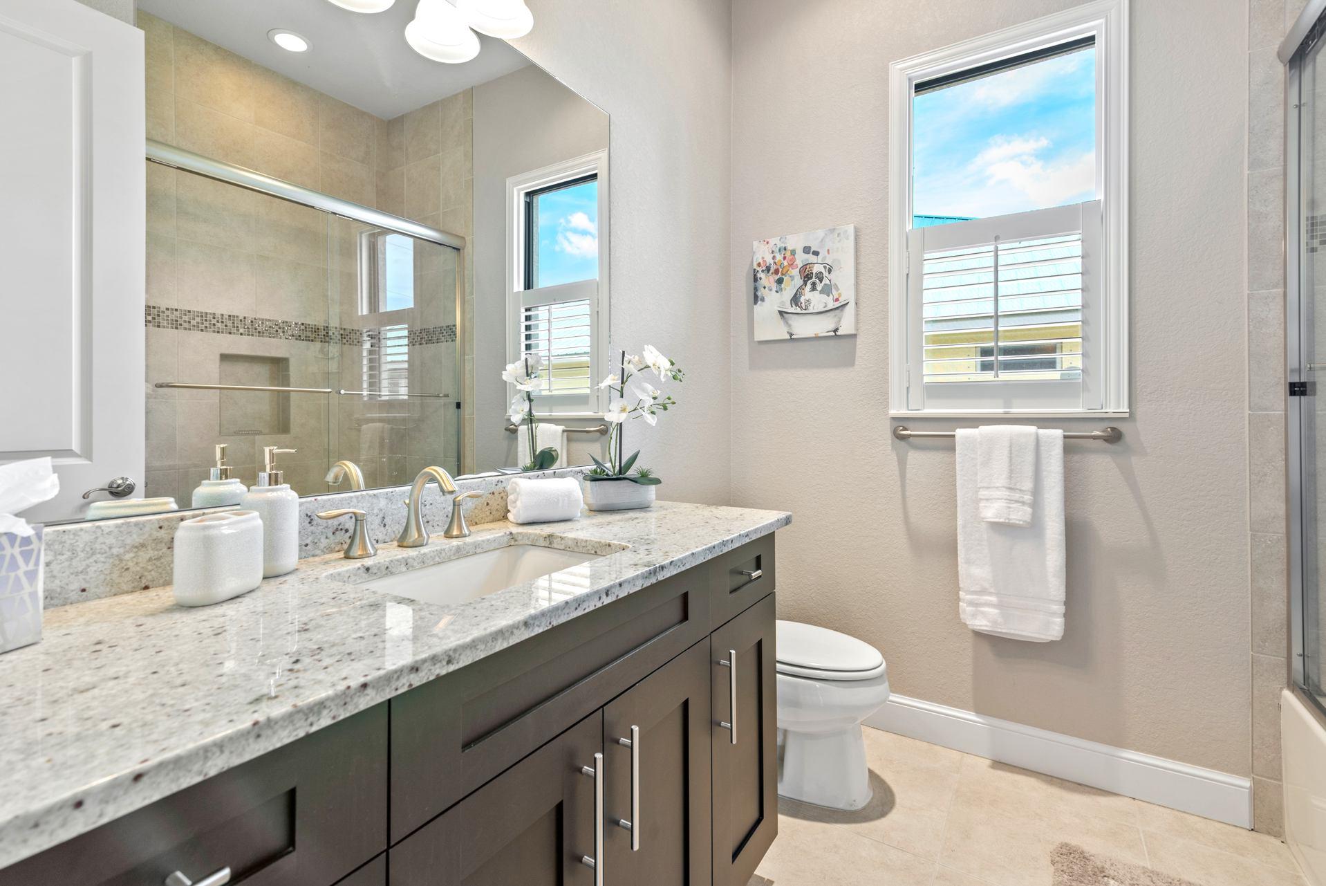 Badezimmer im Ferienhaus