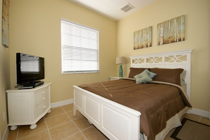 Bedrooms in the rental home