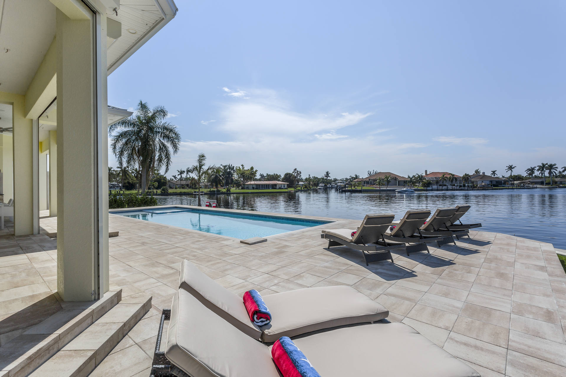 Pool area in Cape Coral