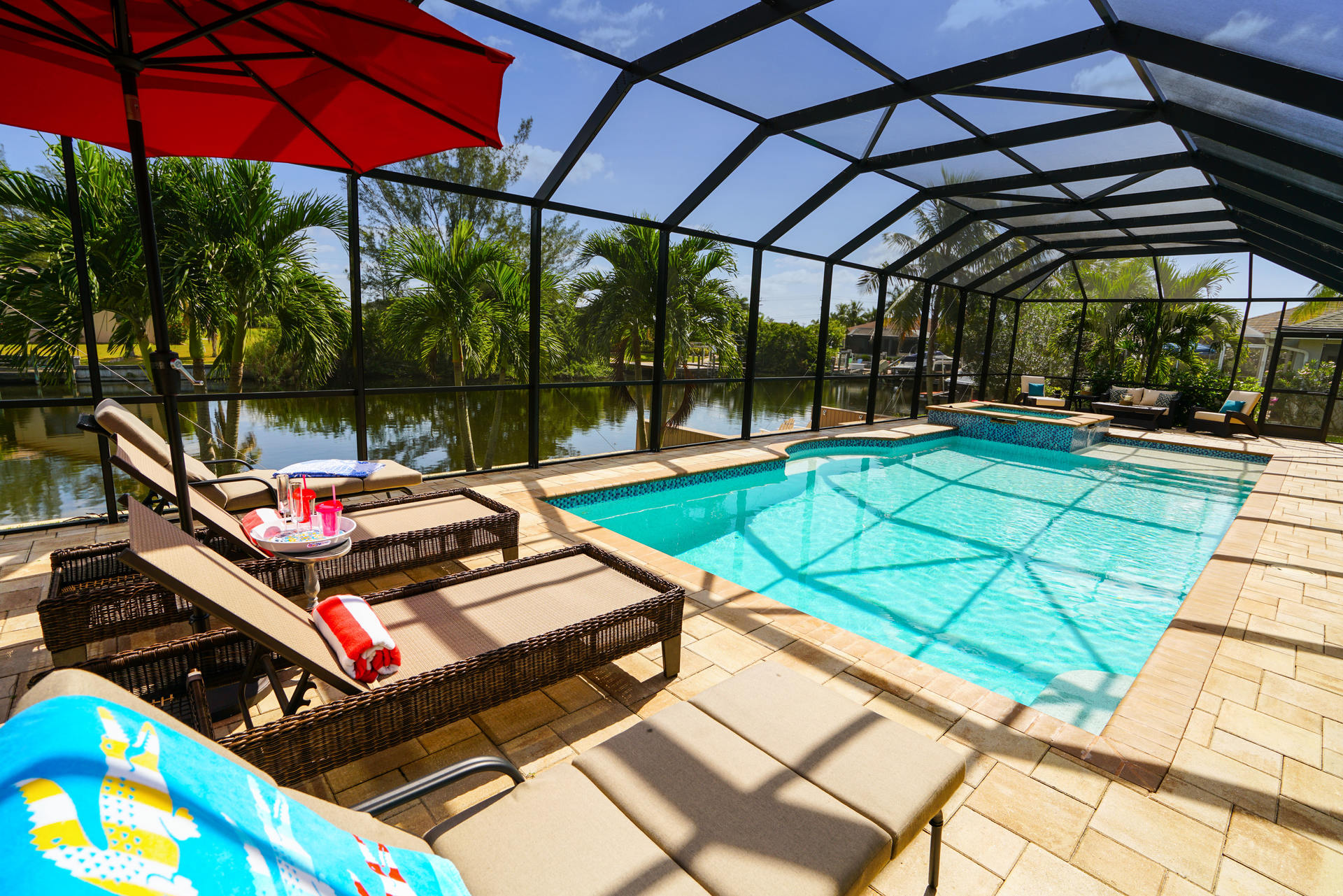Pool area in Florida